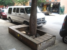 Tree Pit Bench in front of Dokebi Bar & Grill