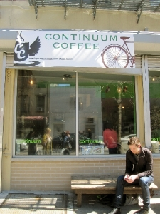 Shopfront Bench in front of Continuum Coffee
