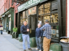 Shopfront Barrels in front of McSorley's Old Ale House