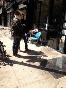 Shopfront Chairs in front of Zoe