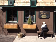 Shopfront Bench in front of Tavern on Jane