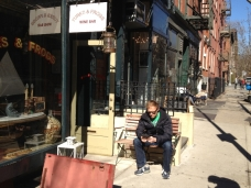 Shopfront Chairs in front of Turks & Frogs Wine Bar