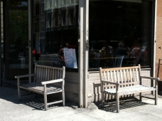 Shopfront Bench in front of 'sNice
