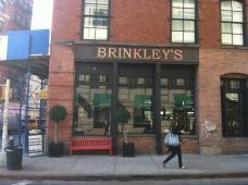 Shopfront Bench in front of Brinkleys