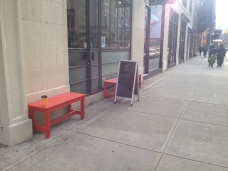 Shopfront Bench in front of Gasoline Alley Coffee