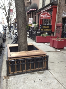 Tree Pit Bench in front of Souen Restaurant