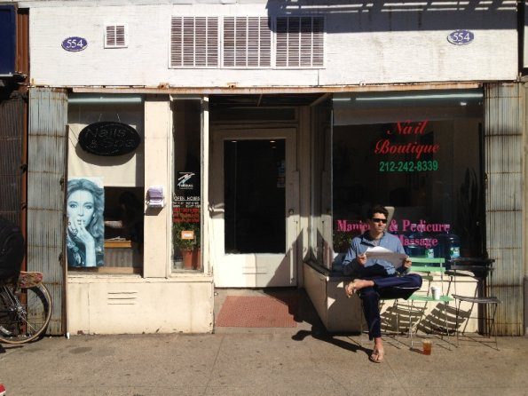 Shopfront Chairs in front of Nail Boutique