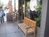 Shopfront Bench in front of Nature's Grill II