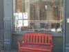 Shopfront Bench in front of Posteritati Vintage Movie Posters