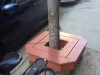 Tree Pit Bench in front of Siena Espresso and Juice Bar