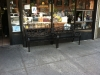 Shopfront Bench in front of Bagel World